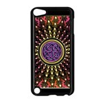 Hot Lavender Celtic Fractal Framed Mandala Apple iPod Touch 5 Case (Black) Front