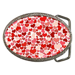 Pretty Hearts  Belt Buckle (oval) by Colorfulart23
