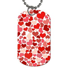Pretty Hearts  Dog Tag (two Sided)  by Colorfulart23