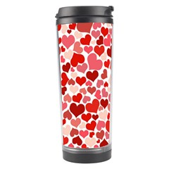 Pretty Hearts  Travel Tumbler by Colorfulart23