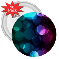 Deep Bubble Art 3  Button (10 Pack) by Colorfulart23