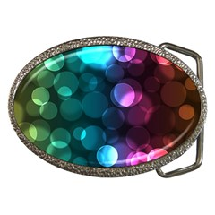 Deep Bubble Art Belt Buckle (oval) by Colorfulart23