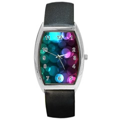 Deep Bubble Art Tonneau Leather Watch by Colorfulart23