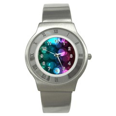 Deep Bubble Art Stainless Steel Watch (slim) by Colorfulart23