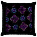 Black Beauty Black Throw Pillow Case Front