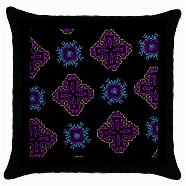 Black Beauty Black Throw Pillow Case