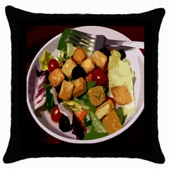 Salad Black Throw Pillow Case by Contest1852090