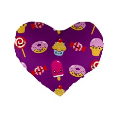 Sweet Dreams 16  Premium Heart Shape Cushion  by Contest1771648
