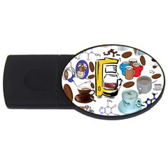 Just Bring Me Coffee 2gb Usb Flash Drive (oval)