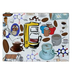 Just Bring Me Coffee Cosmetic Bag (xxl) by StuffOrSomething