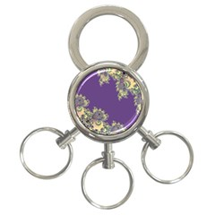 Purple Symbolic Fractal 3-ring Key Chain by UROCKtheWorldDesign