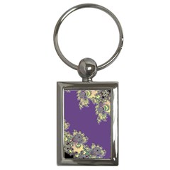 Purple Symbolic Fractal Key Chain (rectangle) by UROCKtheWorldDesign
