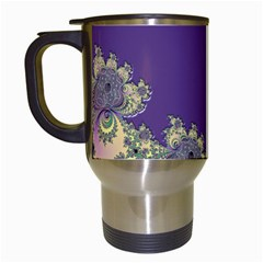 Purple Symbolic Fractal Travel Mug (white) by UROCKtheWorldDesign