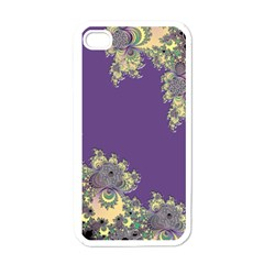 Purple Symbolic Fractal Apple Iphone 4 Case (white) by UROCKtheWorldDesign