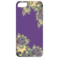 Purple Symbolic Fractal Apple Iphone 5 Classic Hardshell Case by UROCKtheWorldDesign