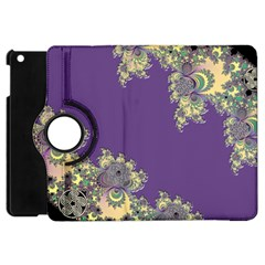 Purple Symbolic Fractal Apple Ipad Mini Flip 360 Case