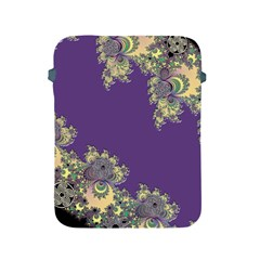 Purple Symbolic Fractal Apple Ipad Protective Sleeve by UROCKtheWorldDesign