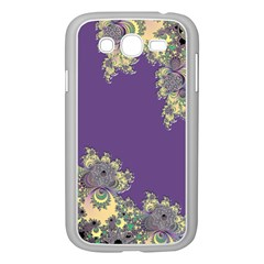 Purple Symbolic Fractal Samsung Galaxy Grand Duos I9082 Case (white) by UROCKtheWorldDesign