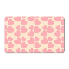 Cream And Salmon Hearts Magnet (rectangular)