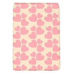 Cream And Salmon Hearts Removable Flap Cover (large) by Colorfulart23