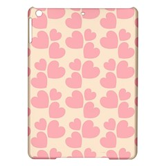 Cream And Salmon Hearts Apple Ipad Air Hardshell Case by Colorfulart23