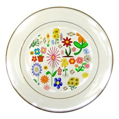 Summer Florals Porcelain Display Plate by StuffOrSomething