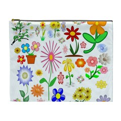 Summer Florals Cosmetic Bag (xl) by StuffOrSomething