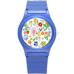Summer Florals Plastic Sport Watch (small) by StuffOrSomething