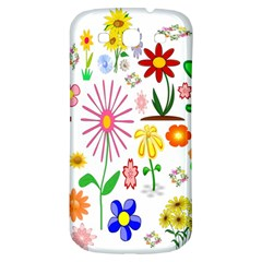 Summer Florals Samsung Galaxy S3 S Iii Classic Hardshell Back Case by StuffOrSomething