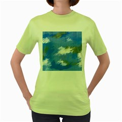 Abstract Clouds Women s T-shirt (green) by StuffOrSomething
