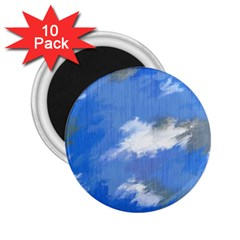 Abstract Clouds 2 25  Button Magnet (10 Pack) by StuffOrSomething