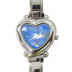 Abstract Clouds Heart Italian Charm Watch  by StuffOrSomething