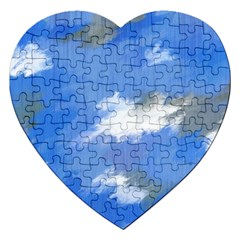 Abstract Clouds Jigsaw Puzzle (heart) by StuffOrSomething