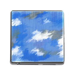 Abstract Clouds Memory Card Reader With Storage (square) by StuffOrSomething