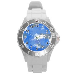 Abstract Clouds Plastic Sport Watch (large) by StuffOrSomething