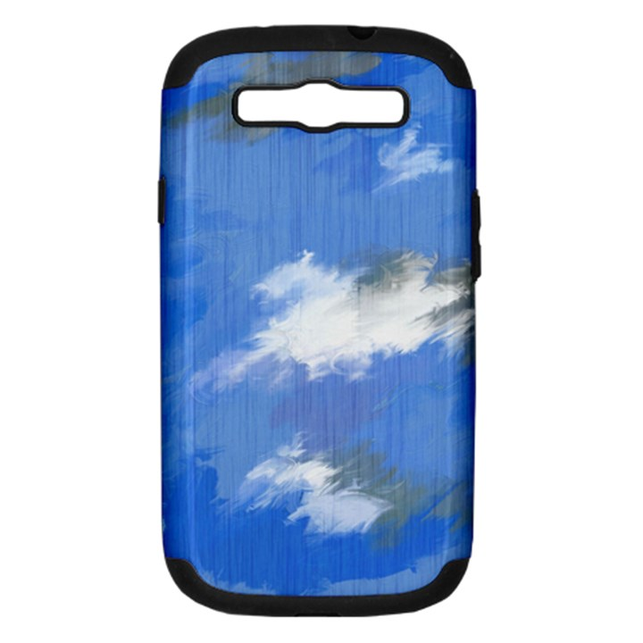Abstract Clouds Samsung Galaxy S III Hardshell Case (PC+Silicone)