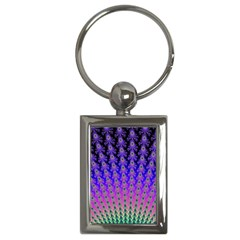 Rainbow Fan Key Chain (rectangle) by UROCKtheWorldDesign