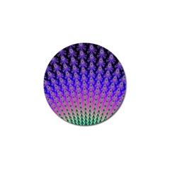 Rainbow Fan Golf Ball Marker by UROCKtheWorldDesign