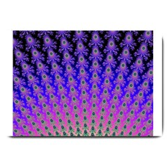 Rainbow Fan Large Door Mat by UROCKtheWorldDesign