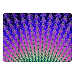 Rainbow Fan Samsung Galaxy Tab 10 1  P7500 Flip Case by UROCKtheWorldDesign