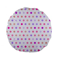 Love Dots 15  Premium Round Cushion