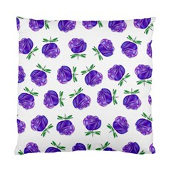 Purple Roses In Rows Cushion Case (two Sided)