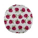 Pink Roses in Rows 15  Premium Round Cushion  Front