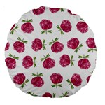 Pink Roses in Rows 18  Premium Round Cushion  Back