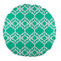 Lattice Stars In Teal 18  Premium Round Cushion  by Contest1878042