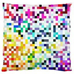 Pixelated Large Cushion Case (two Sided)  by Contest1878042