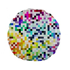 Pixelated 15  Premium Round Cushion
