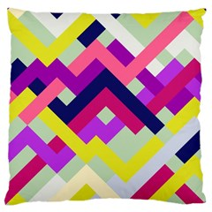 Pink & Yellow No  1 Large Cushion Case (single Sided)