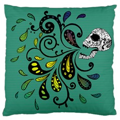 Skull Scream Large Cushion Case (single Sided)  by Contest1871380