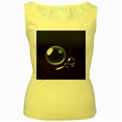 Bubbles 7 Women s Tank Top (yellow)